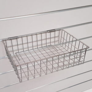 příslušenství SlatWall pro stojany a regály z drážkového panelu na prodejnu