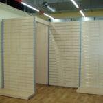 regály na prodejnu stojan ze slatwall drážkového panelu - kabinka
